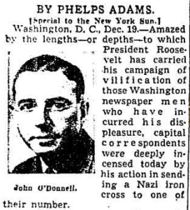 O'DONNELL AND IRON CROSS STORYReprinted in Chicago Tribune, Dec. 20, 1942